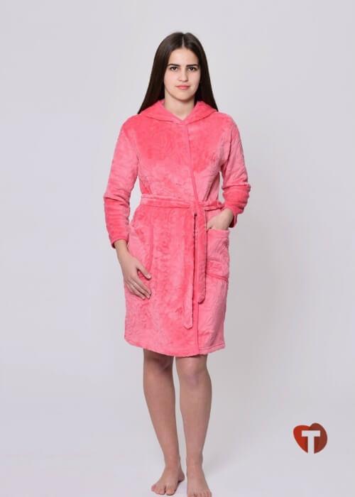 Розовый женский халат Белошвейка