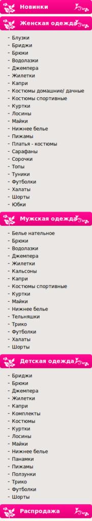 Модница каталог