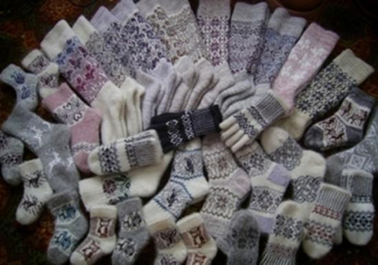 Носки тремя способами вязки связаны