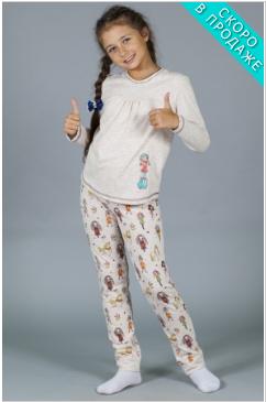 Костюм детский для девочки с белой кофтой