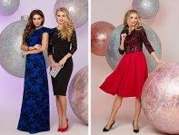 Синие, черные, красные платья