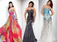 Цветное, черное и белое платья