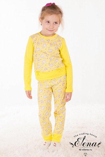 Желтый костюм для девочки
