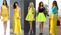 Желтые и лимонные платья