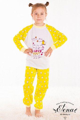 Пижама желтая для девочки