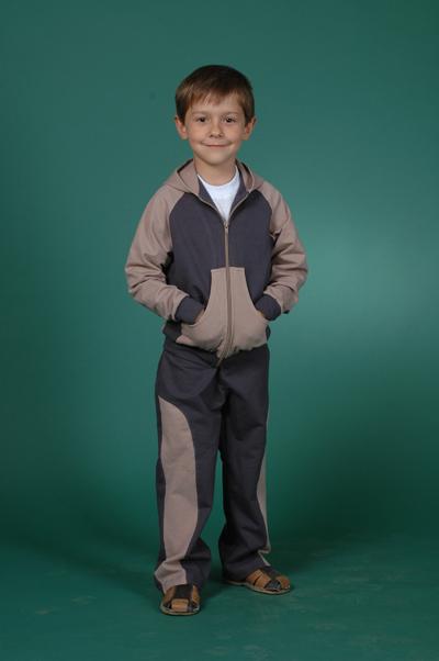 Спортивный детский костюм комбинированный Русский стиль