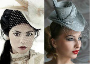 В чем встречать новый год шляпка с вуалью