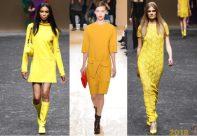 Желтые платья на новый год 2018