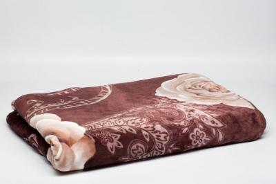 Плед коричневый с розами Гомани