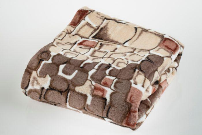 Плед из микрофибры коричневый
