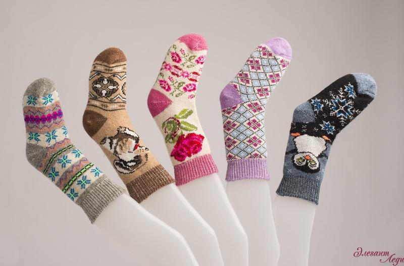 Шерстяные носки от Элегант Леди