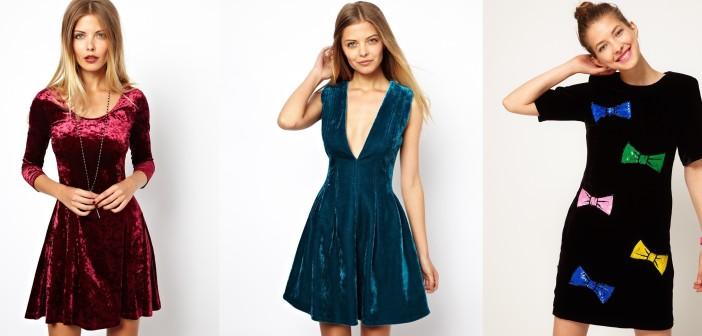 Фото модных бархатных платьев