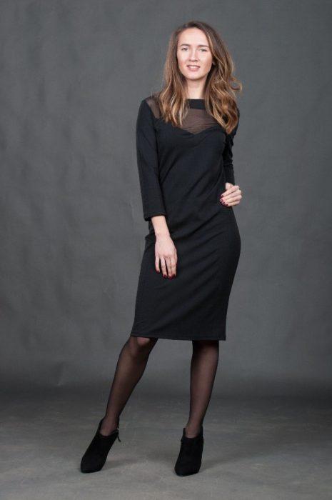 Платье черное вискоза