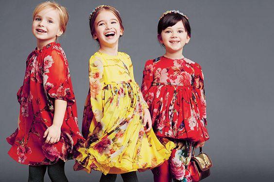 Цветочный принт на девочках