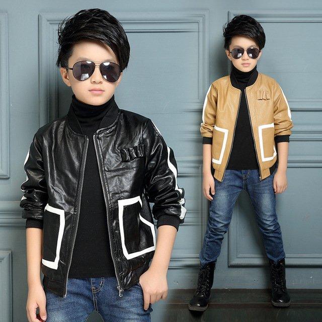 Кожаные куртки на мальчиков