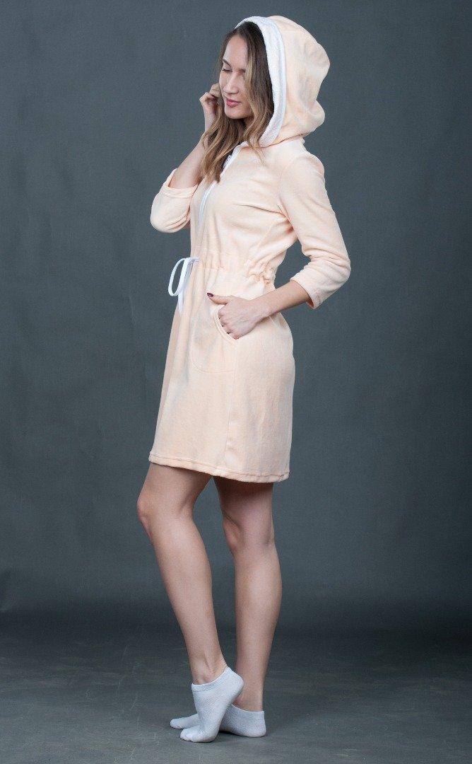 Персиковый халат