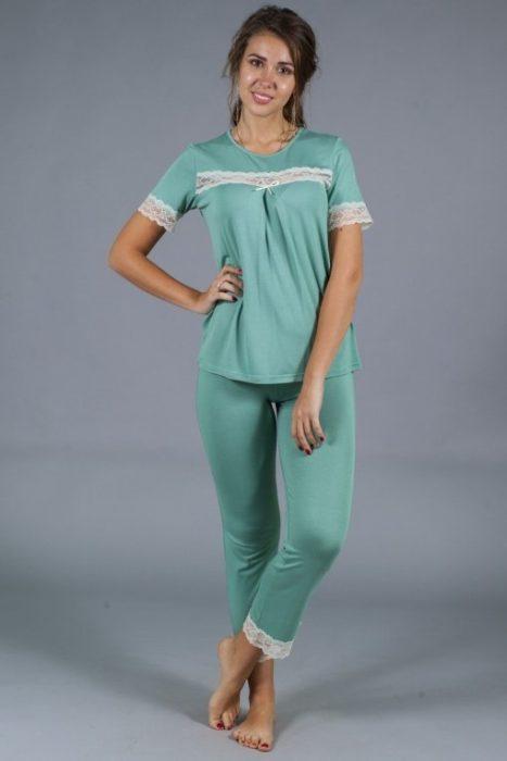пижама кружева зеленая