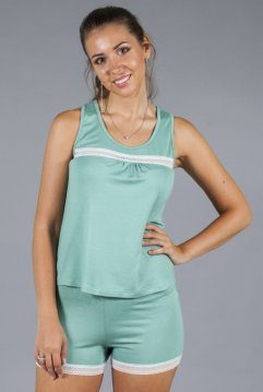 пижама закрытая зеленая