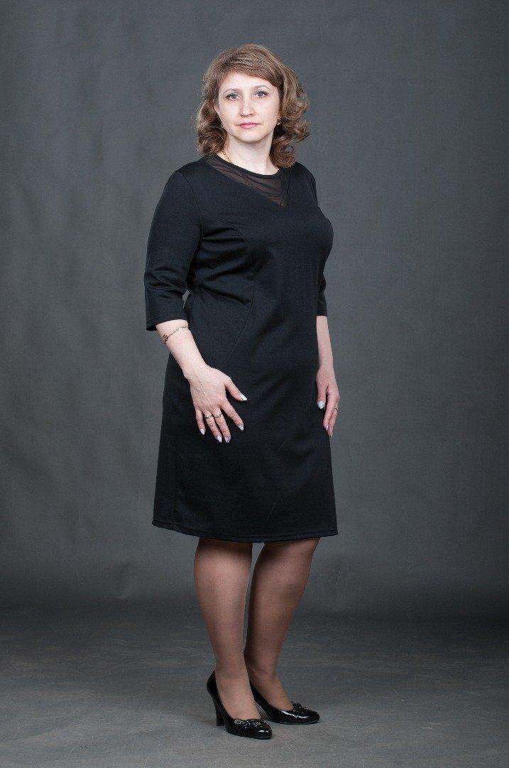 Платье черное с сеткой