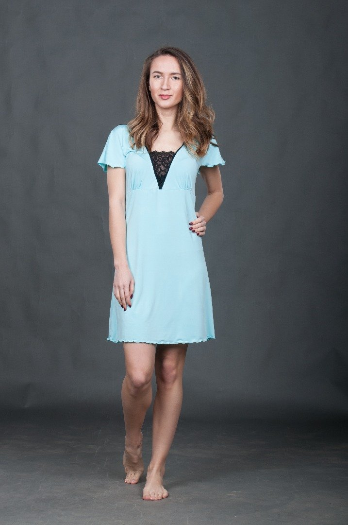 Сорочка голубая