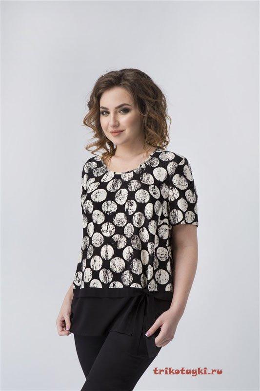 Блузка черная с шарами