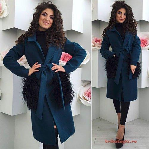 Антитренды пальто с меховыми карманами