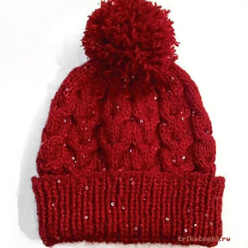 Антитренды шапка со стразами