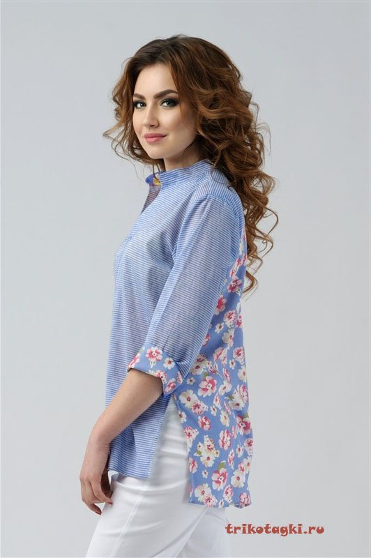 Блузка с цветной спиной