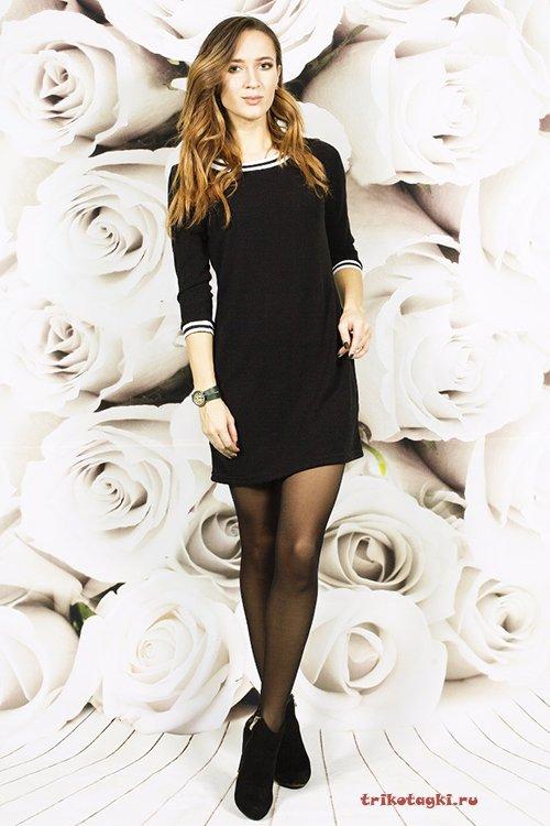 Черное платье короткое