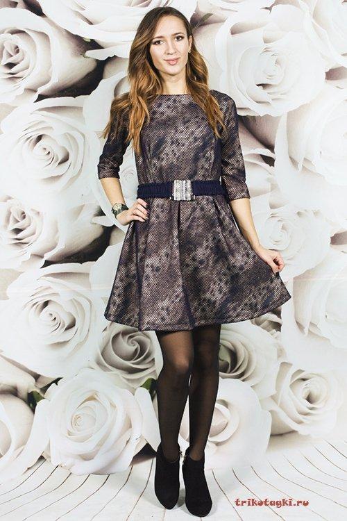 Платье короткое расклешонное