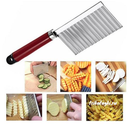 Ноу хау для кухни рельефный нож