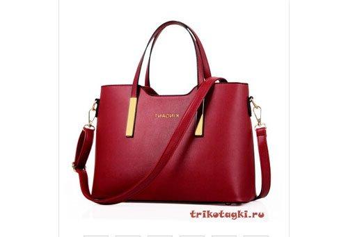 Красная прямоугольная сумка