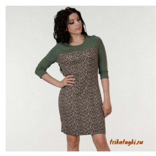Платье женское зеленое
