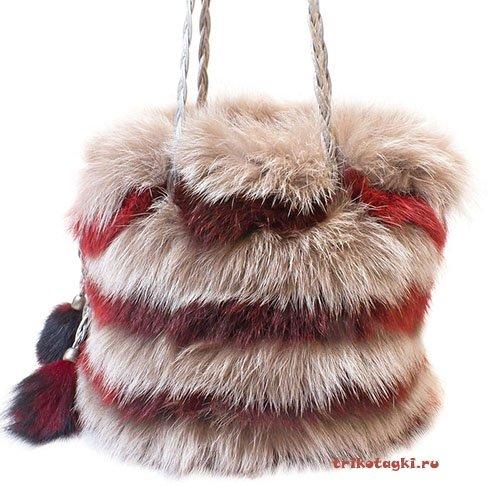 Меховая сумка торба