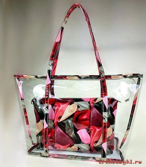 Пластиковая сумка с клатчем