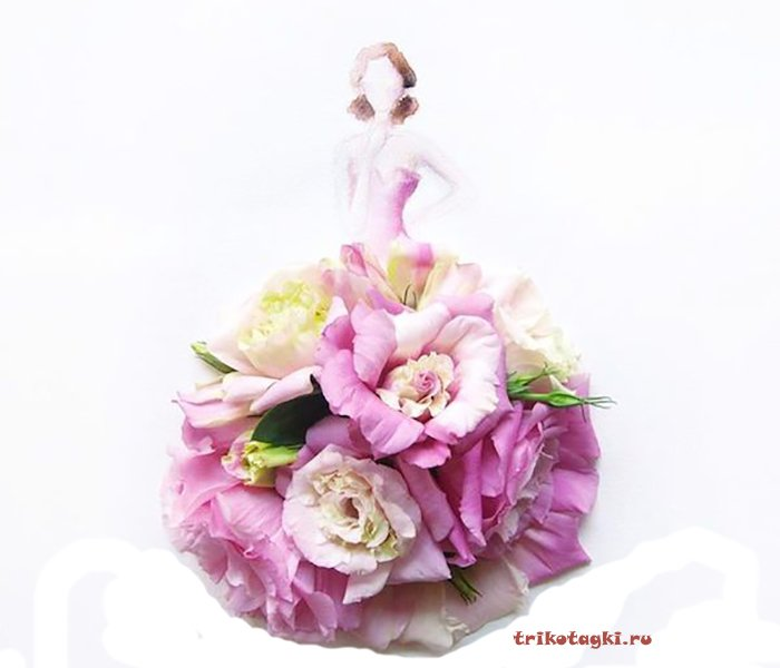 Платье из цветов