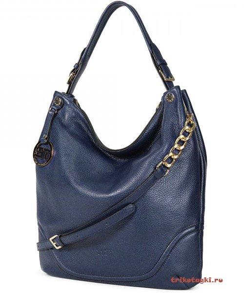 Синяя сумка - мешок