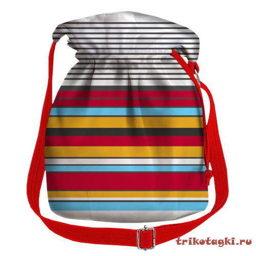 Сумка торба в полоску