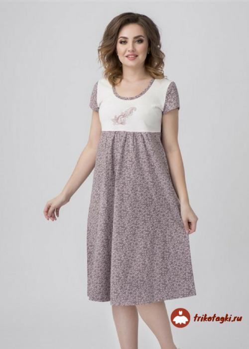 Сорочка длинная женская без рукавов