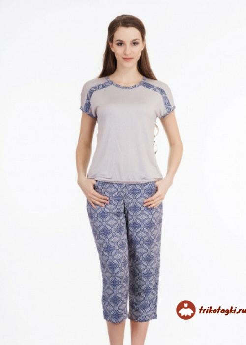 Пижама с бриджами женская