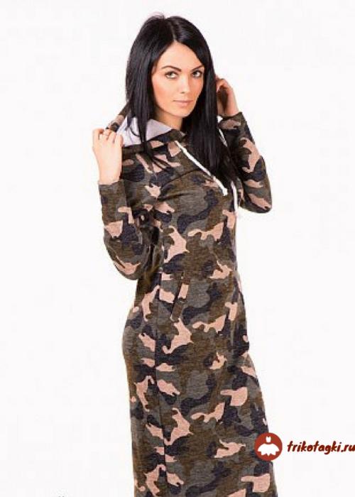Платье камуфлированное