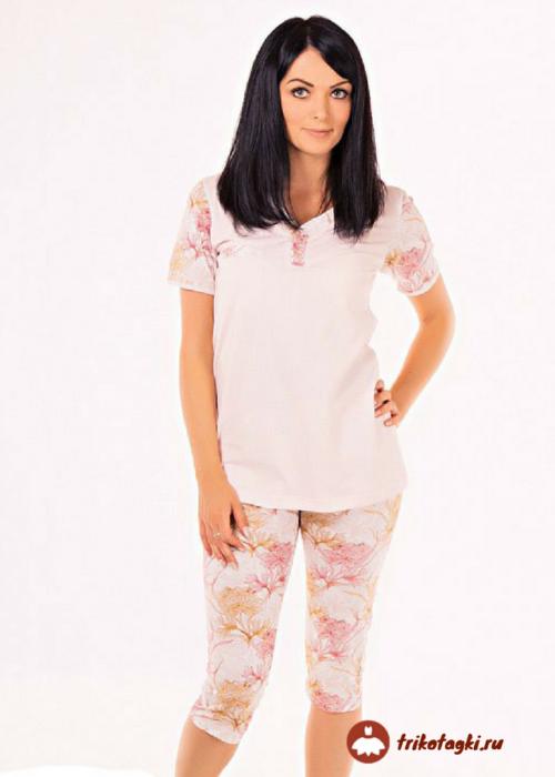 Пижама женская нежно персикового цвета
