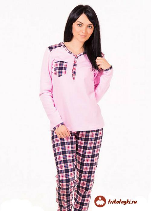 Пижама женская с длинными рукавами
