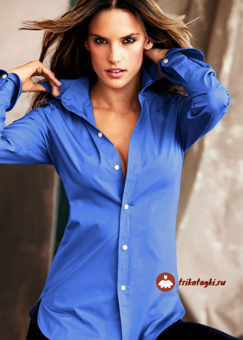 Батник женский синий