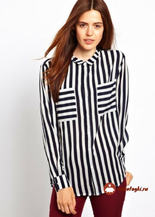 Блуза женская в полоску