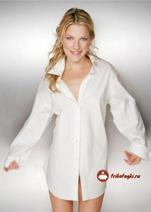 Блуза белая женская с длинным рукавом