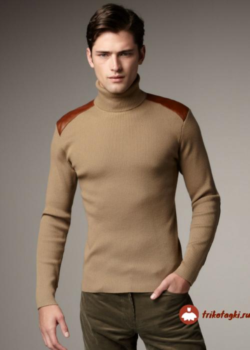 Водолазка мужская коричневая