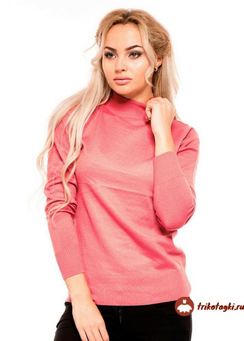 Бадлон розовый женский