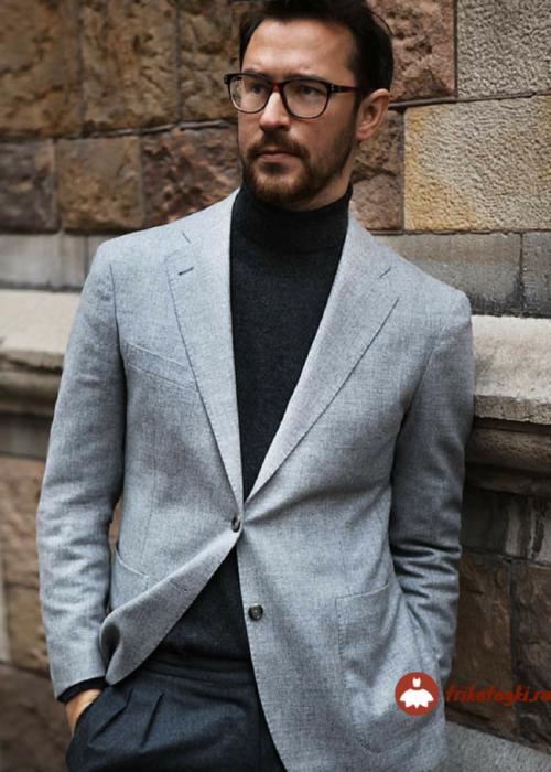 Бадлон черный мужской под пиджак