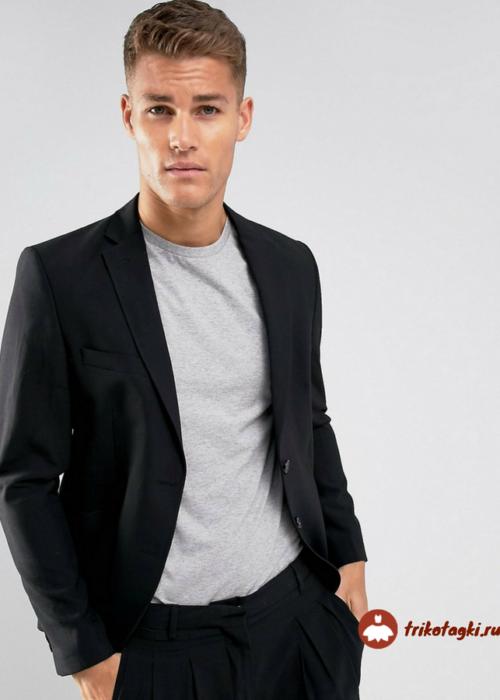 Лонгслив мужской с пиджаком